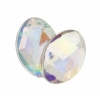 Acrylic 18x13mm Oval Facet Crystal Aurora Borealis